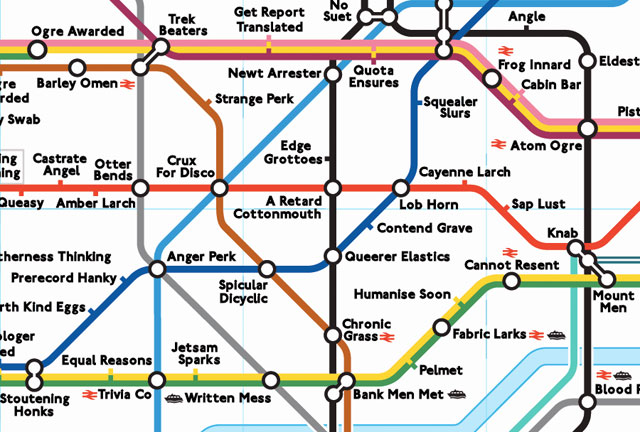 Anagram London Tube Map