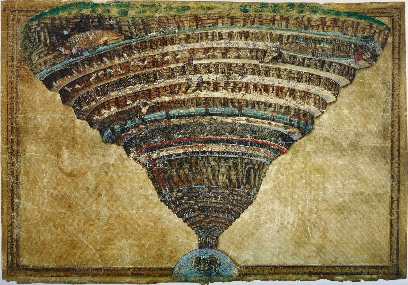 The Map of Hell by Sandro Botticelli.