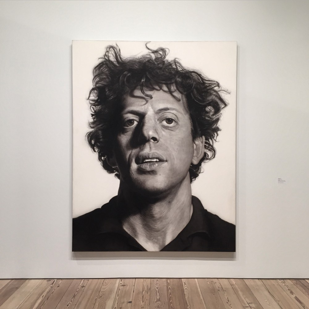 Philip Glass by Chuck Close